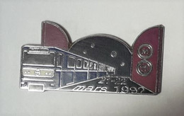 QQ84 Pin's SNCF TGV Train Métro 21 22 Mars 1992 RATP Achat Immédiat - TGV