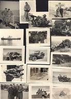 17 Photos Guerre D'Algérie Bou Saada Hauts Plateaux Camion Accidenté Attentats Bône Opération Aures Hélicoptère Jeep... - Krieg, Militär