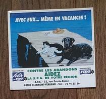 AUTOCOLLANT STICKER - CONTRE LES ABANDONS AIDEZ LA S.P.A. - A.P.A. 63100 CLERMONT-FERRAND - ANIMAUX CHIEN CHAT FIDO - Stickers