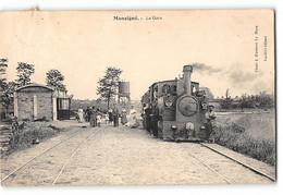 CPA 72 Mansigné La Gare Et Le Train Tramway - Altri Comuni