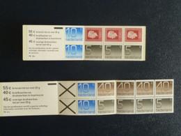 M1 -  Nederland - Pays Bas - Lot De 2 Carnets Composés 8 Timbres Et 10 Timbres - 2 Florins Chacun - Postzegelboekjes En Roltandingzegels