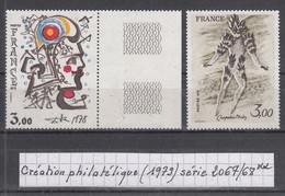France Création Philatélique (1979) Y/T Série 2067/2068 Neufs ** - Nuovi