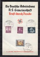 Deutsche Dienstpost Niederlande 1943 KRAFT DURCH FREUDE (La6) - Briefe U. Dokumente