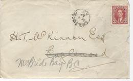 23177) Canada Englewood Postmark Cancel 1937 Closed Post Office - Brieven En Documenten