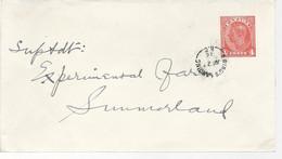 23189) Canada Postal Stationery Summerland Ewings Landing Postmark Cancel Closed Post Office 1946 - Brieven En Documenten