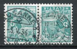 21948 SUISSE N°272a° 5c. Vert-bleu Le Pilate Tête-bêche  1934  B/TB - Tete Beche