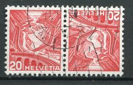 21953 SUISSE N°293c° 20c.Voie Du Saint-Gothard Tête-bêche  1936  B/TB - Tete Beche