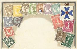 Représentation Du Timbre - Carte Gaufrée - Queensland -Post Card United Kingdom - Stamps (pictures)