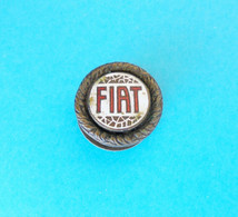 FIAT ... Beautifull Old And Rare Enamel Buttonhole Pin Badge * Car Automobile Auto Automobil Italy Italia Torino - Fiat