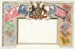 Représentation Du Timbre - Carte Gaufrée - Deutsches Reich - Allemagne - Germany - Postkarte - UPU - Stamps (pictures)