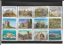 714->725 Châteaux Et Demeures Historiques De Nos Régions 1 Oblitérés 2012 - Luchtpost