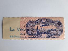 """Y&T PA 15-Burelé-Vignette Publicitaire Edouard Berck-Neuf Avec Gomme-porte Le Tampon """"Le Vésinet Philatélique"""" - 1927-1959 Nuovi"""