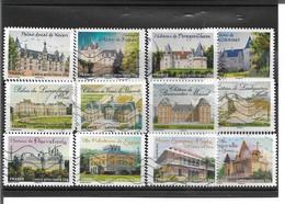 726->737 Châteaux Et Demeures Historiques De Nos Régions 2 Oblitérés 2012 - Luchtpost