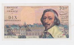 10 Fr. Richelieu Du 5-4-62 Neuf  2 Trous D'épinglage  Billet Splendide - 10 NF 1959-1963 ''Richelieu''