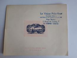 """Y&T PA 15-Burelé-Vignette Publicitaire Edouard Berck-Epreuve De Luxe-porte Le Tampon """"Le Vésinet Philatélique"""" - 1927-1959 Nuovi"""