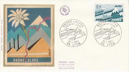 FDC 1977 REGION RHONE ALPES - 1970-1979