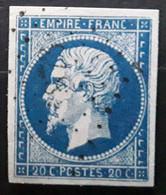 Empire No 14 A Obl VARIÉTÉ Grecque De Droite Incomplète Obl Pc 1873 De MARENNES, Charente Inférieure Maritime,  TB - 1853-1860 Napoleone III