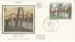 FDC 1977 PEINTURE DE COROT - 1970-1979