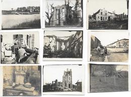 Guerre 1914-1918 - 23 Photos De Xivray Et Etang De Girondelle (Meuse) En Mai-Juin 1915 Avec Annotations - Guerra, Militares