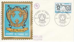 FDC 1977 JOURNEE DU TIMBRE - 1970-1979