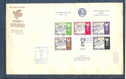 PARAGUAY FDC  1961  EUROPA MNH - Paraguay