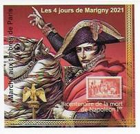 "Bicentenaire De La Mort De Napoléon 1er - Bloc Non Dentelé ""Marigny 2021"" - Napoleón"