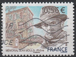 2009_Jean Moulin YT N°340 Oblitéré / Used Self-adhesive Stamp - Luchtpost
