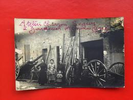 RARE CPA PHOTO ATELIER DE CHARRON DE MR SEGUY À GARDOUCHE 1910 TOP - Other Municipalities