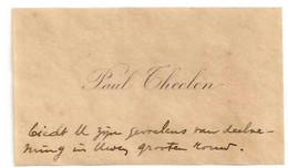 Carte De Visite - Paul Theelen. (Avec Enveloppe Et Timbre) - Visiting Cards