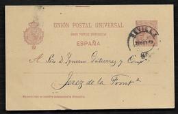 ESPAÑA. 1893 SEVILLA / JEREZ DE LA FRONTERA (CADIZ). - Cartas