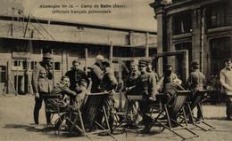 ALLEMAGNE - CAMP DE HALLE - OFFICIERS FRANCAIS PRISONNIERS CROIX ROUGE 1914/15 WWI WWICOLLECTION - Guerra 1914-18