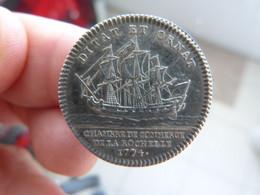 Jeton En Argent De Louis XVI - Chambre De Commerce La Rochelle 1774 - Royal / Of Nobility