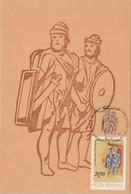 ARCHAEOLOGY, VASILE PARVAN, DACIAN WARRIORS, CM, MAXICARD, CARTES MAXIMUM, 1982, ROMANIA - Archäologie