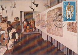 ARCHAEOLOGY, BUCHAREST MILITARY MUSEUM, DACIAN- ROMAN WARS HALL, CM, MAXICARD, CARTES MAXIMUM, 1981, ROMANIA - Archäologie