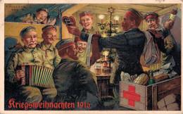 80499- Kriegsweihnachten 1916 Ortssammelkomitee Nürnberg Vom Roten Kreuz - Red Cross