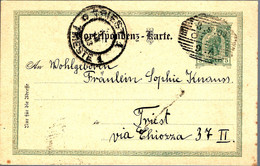 AUTRICHE 1903 ENTIER POSTAL / GANZSACHE POUR TRIEST - Enteros Postales