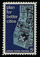 USA, 1966 Scott #1333,Plan For Better Cities Tagged Single,  MNH, VF - Nuevos