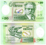 Uruguay 20 Pesos 2020 UNC - Uruguay