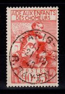 YV 428 Bien Oblitéré Paris , Enfants De Chomeurs Cote 3 Euros - Gebraucht