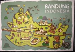 Carte Postale  écrite  MAP. INDONESIA - World