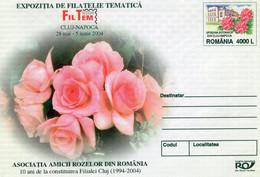 ROMANIA 2004: ROSES & BOTANIC GARDEN Unused Prepaid Cover 089/2004 - Registered Shipping! - Entiers Postaux