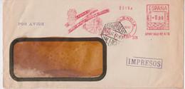 Valencia Feria Muestrario Internacional Lettre Espagne EMA Empreinte Machine Slogan Espana Correos 1947 - Machine Stamps (ATM)