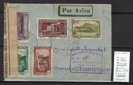 Réunion - France Libre - Saint Denis 1943 -44 -Réouverture Ligne Madagascar - Cachet Des FFC Et Censure - Posta Aerea