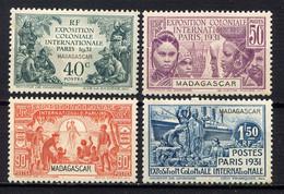 MADAGASCAR - N° 179/182* - EXPOSITION COLONIALE DE PARIS - Nuovi