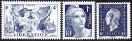 France N° 4986 - 4887 Et 4988 ** Libération De L'Alsace Et La Lorraine + Marianne De Gandon Et Dulac - WW2 (II Guerra Mundial)
