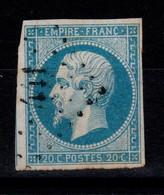 YV 14A Oblitere PC 441 De Bordeaux , 4 Marges, Pas Aminci - 1853-1860 Napoleone III