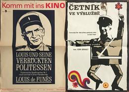 Louis DE FUNES 2 Affiches Le Gendarme Saint-Tropez Allemagne & Tchecoslovaquie - Other Formats