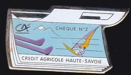 71407- Pin's -Banque Crédit Agricole Haute Savoie. - Banche