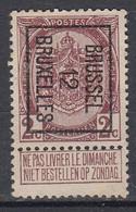 BELGIË - PREO - Nr 25 B - BRUSSEL 12  BRUXELLES - (*) - Sobreimpresos 1906-12 (Armarios)