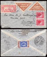 """Paraguay - Yvert A41 + A61(2) + 403 - 1941 - Carta Con Matasello Conmemorativo """"Zeppelin 16/11/41"""" - Paraguay"""